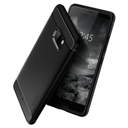Spigen Rugged Armor HTC U Ultra Tough Case - Black