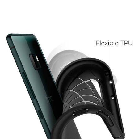 Spigen Rugged Armor HTC U Ultra Tough Case - Black
