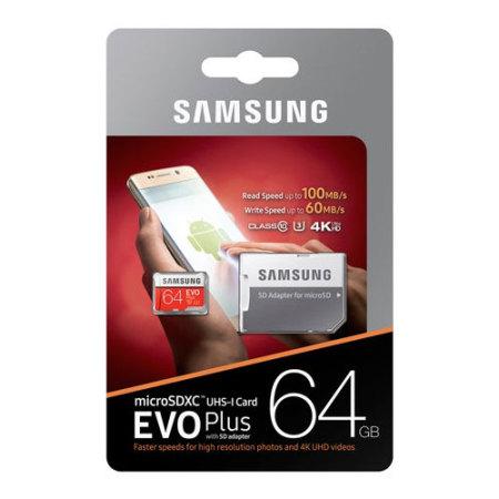 Carte mémoire Samsung MicroSDXC EVO Plus 64Go avec adapt. – Classe 10