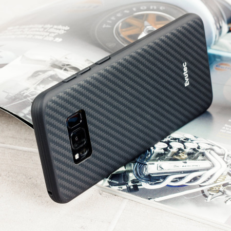 brand new 9f8eb 5c3cd Evutec AER Karbon Samsung Galaxy S8 Tough Case - Black