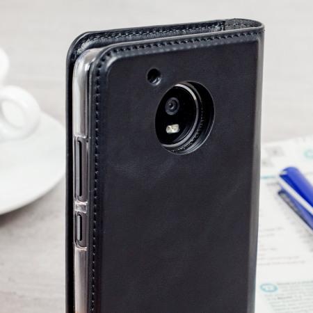 Olixar Genuine Leather Motorola Moto G5 Executive Wallet Case - Black