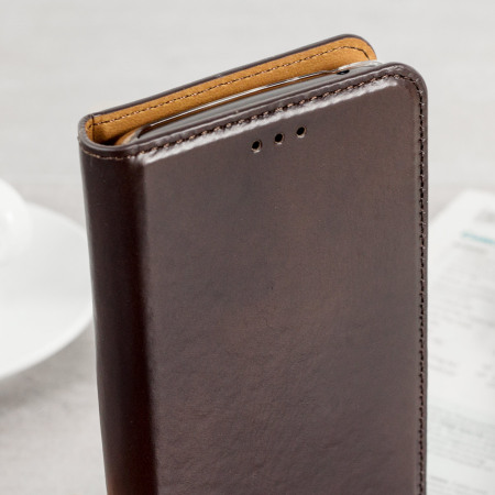 Olixar Genuine Leather Motorola Moto G5 Executive Wallet Case - Brown