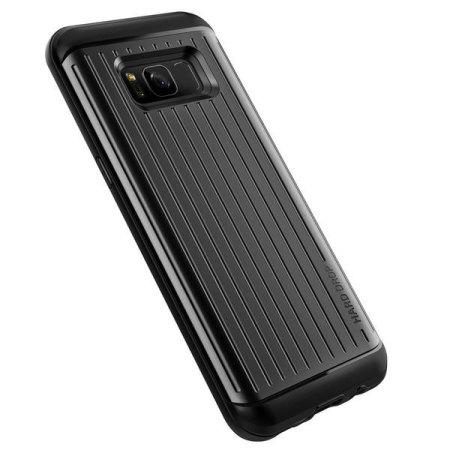 VRS Design Thor Waved Series Samsung Galaxy S8 Case - Dark Silver