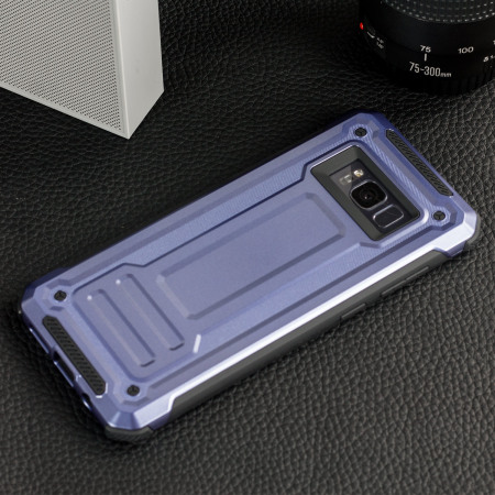 VRS Design Terra Guard Samsung Galaxy S8 Case - Dark Silver