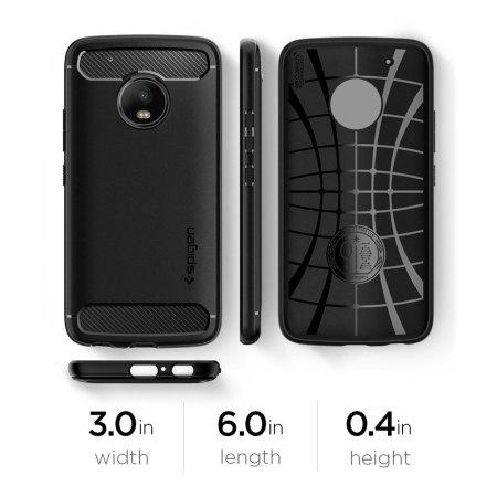 check out dc7be 18f02 Spigen Rugged Armor Motorola Moto G5 Plus Tough Case - Black