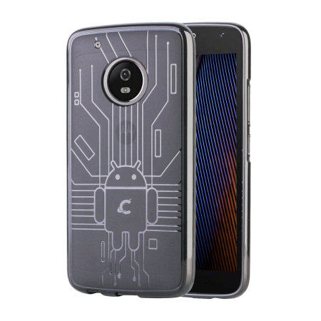 detailed look 0e668 81cbb Cruzerlite Bugdroid Circuit Motorola Moto G5 Plus Case - Clear