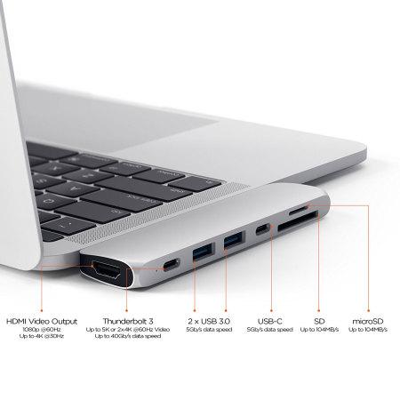 Satechi USB-C Pro Hub Multiport 4K HDMI & USB Adapter - Silver
