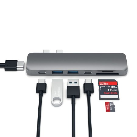 Satechi USB-C Hub Pro Multiport 4K HDMI & USB Adapter - Space Grey