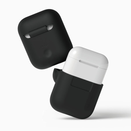 Elago Apple AirPods Protective Silicone Case - Black