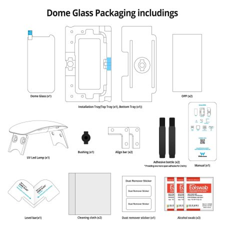 Whitestone Dome Glass iPhone 8 / 7 Plus Full Cover Screen Protector