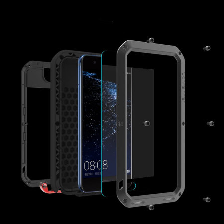 Love Mei Powerful Huawei P10 Plus Protective Skal - Svart