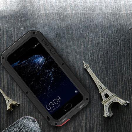 Love Mei Powerful Huawei P10 Plus Protective Case - Black