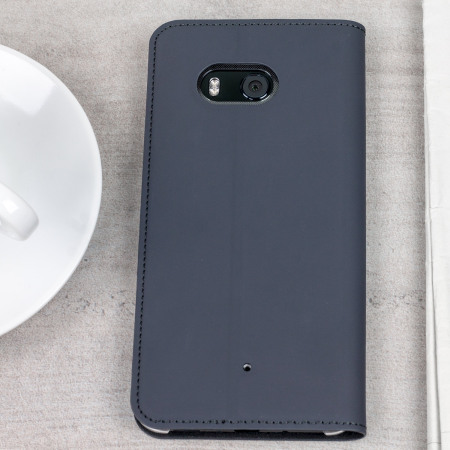 Official Htc U11 Leather Style Flip Case Dark Grey
