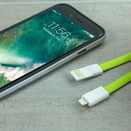 STK Short Lightning Magnetic Charge and Sync Cable - Green
