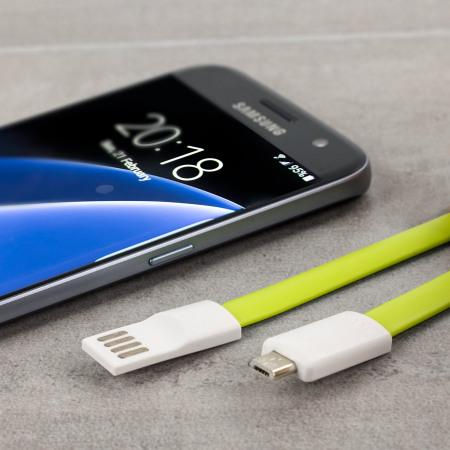 Câble de chargement et synchronisation STK Magnétique Micro USB - Vert