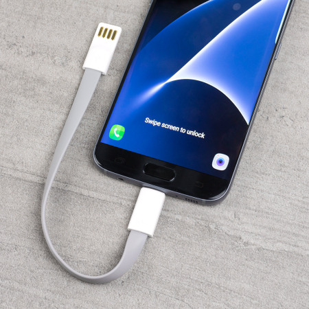 STK Short Micro USB Magnetic Charge and Sync Cable - Grey
