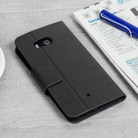 Olixar Leather-Style HTC U11 Wallet Stand Case - Black