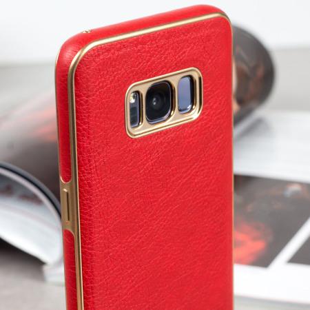 uk availability 4d0ba 908de Olixar Makamae Leather-Style Samsung Galaxy S8 Case - Red