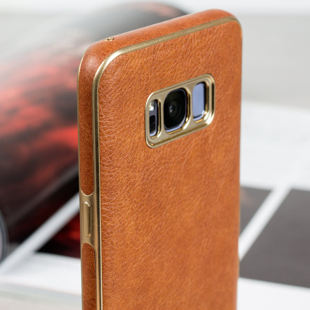 Olixar Makamae Leather-Style Samsung Galaxy S8 Plus Case - Brown