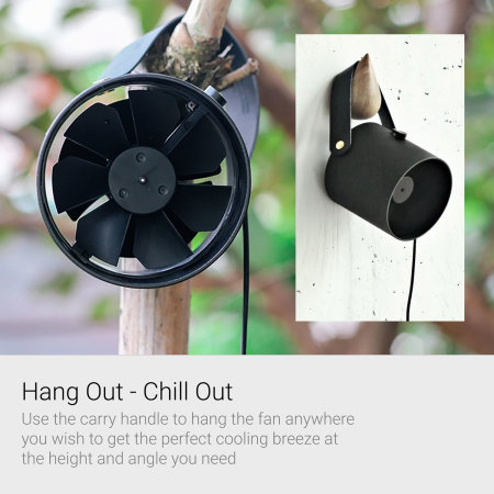 Oroshi Smart Quiet USB Powered Premium Desk Fan - Black