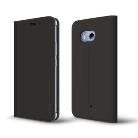 Official HTC U11 Leather-Style Protective Flip Case - Black