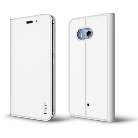 Official HTC U11 Leather-Style Protective Flip Case - White