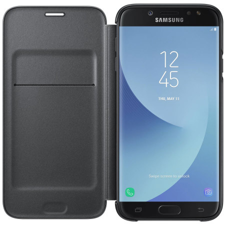 Official Samsung Galaxy J7 2017 Wallet Cover Case - Black