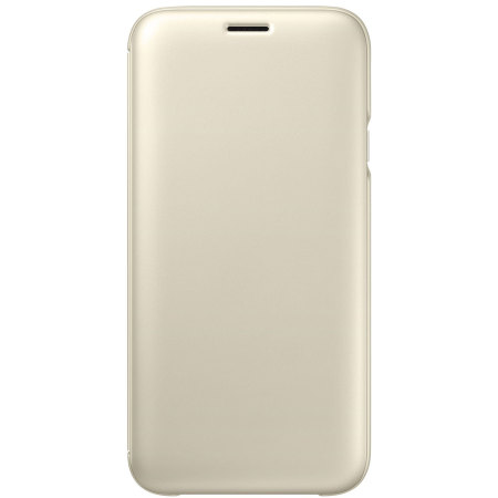 Official Samsung Galaxy J7 2017 Wallet Cover Case - Gold