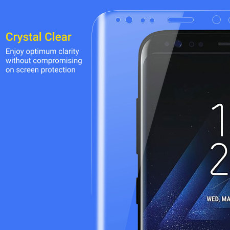 Kahu Samsung Galaxy S8 Plus Curved Glass Screen Protector - 100% Clear