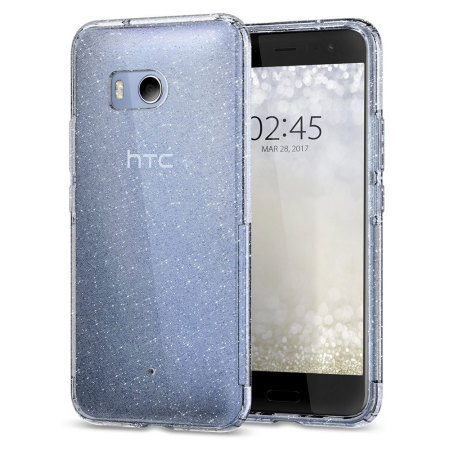 Spigen Liquid Crystal Glitter HTC U11 Shell Case - Crystal Quartz