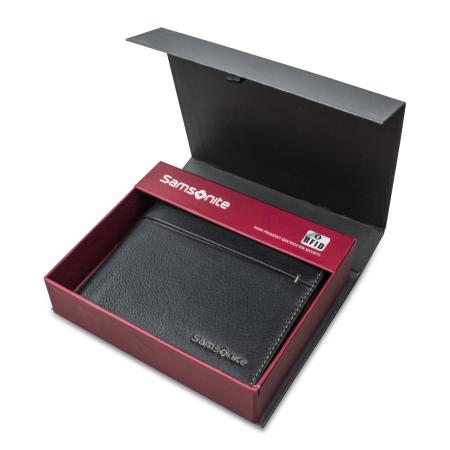 Portefeuille Samsonite S-Pecial Cuir Véritable RFID - Noir