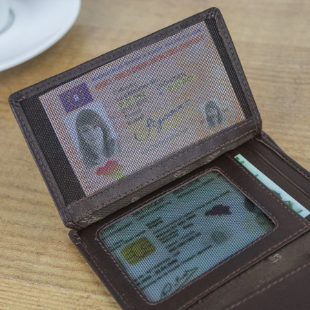 Portefeuille Samsonite S-Derry Cuir Véritable RFID - Marron