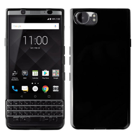 Olixar FlexiShield BlackBerry KeyONE Gel Case - Solid Black