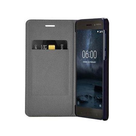buy online f3d10 76e3f Official Nokia 6 Slim Flip Wallet Case - Blue