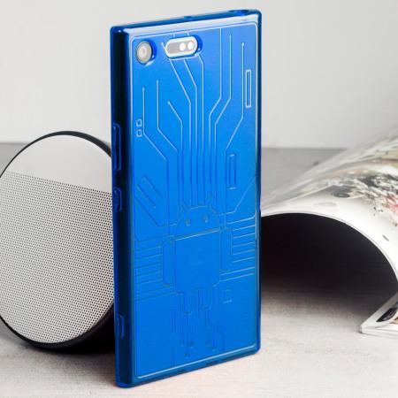 Cruzerlite Bugdroid Circuit Sony Xperia XZ Premium Deksel - Blå