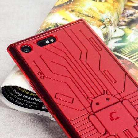 Cruzerlite Bugdroid Circuit Sony Xperia XZ Premium Deksel - Rød