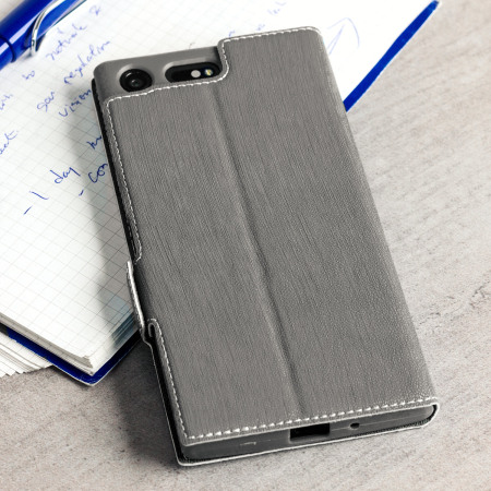 Olixar Low Profile Sony Xperia XZ Premium Wallet Case - Grey