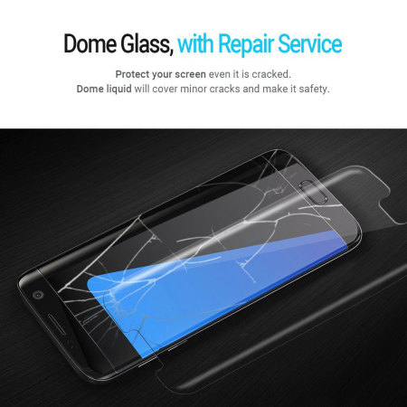 Whitestone Dome Glass Galaxy S7 Edge Full Cover Screen Protector