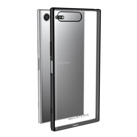 Muvit MFX Bling Sony Xperia XZ Premium Gel Shell Case - Black / Clear