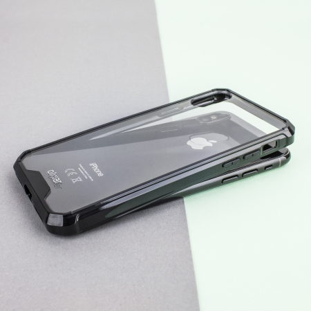 olixar exoshield tough snap on iphone x case   black