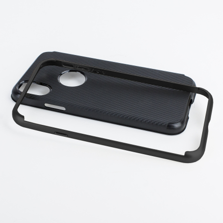 olixar xduo iphone x case - carbon fibre black