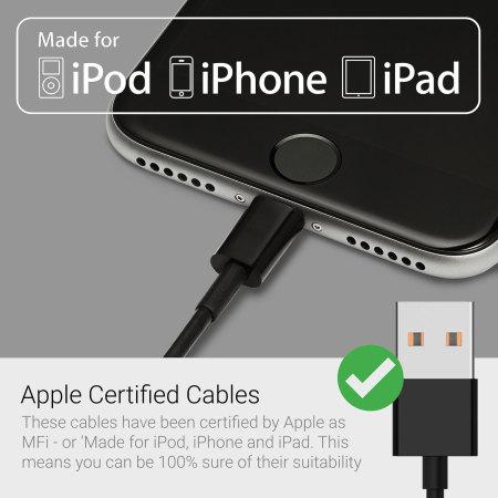 Câble USB vers Lightning Certifié MFi - Noir