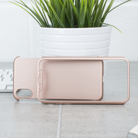Olixar X-Trio Full Cover iPhone X Case Hülle Rose Gold