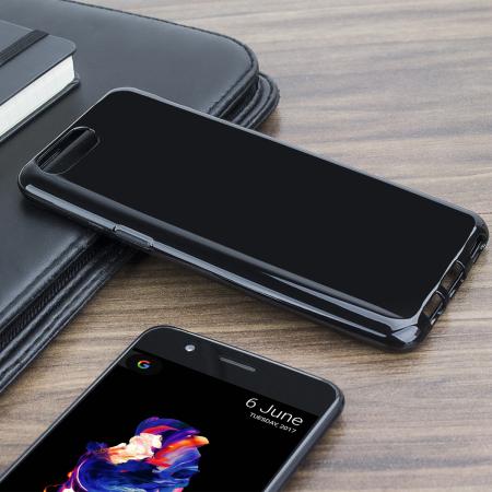 Olixar FlexiShield OnePlus 5 Gel Hülle in Solid Schwarz