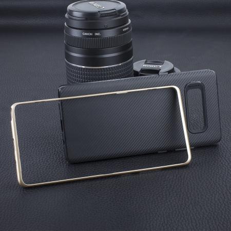 Olixar XDuo Samsung Galaxy Note 8 Case - Carbon Fibre Gold