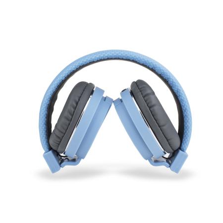 Bitmore Classic Over Ear Opvouwbare Hoofdtelefoons met Microfoon en Afstandsbediening - Blauw