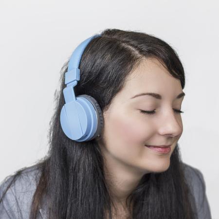 Bitmore Classic über dem Ohr Faltbare Kopfhörer mit Mic und Fernbedienung - Blau