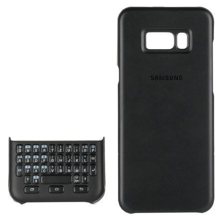 Official Samsung Galaxy S8 Plus QWERTZ Keyboard Cover Case - Black