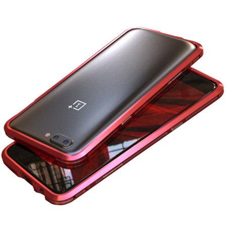 Luphie Sword OnePlus 5 Aluminium Bumper Case - Red