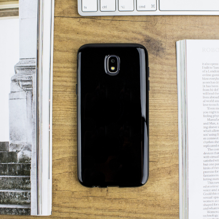 olixar flexishield samsung galaxy j1 2016 gel case solid black